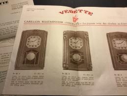 Catalogue 1947 Horloges Carillon Westminster VEDETTE - Premier Catalogue D´après Guerre - Horloges