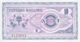 Macedonia 10 Denar 1992 Pick 1 UNC - Macedonia