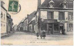 27 - BOURTH - Rue De Francheville - Commerces CHAUSSURES ET RECETTE BURALISTE - Circulé En 1908 - B.E. - France