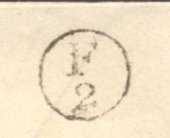 LOIRE ATLANTIQUE 44 NANTES LAC Tad 15 Du 09/05/1852  Taxe 25 DT Boite Rurale Complémentaire F2 = Pont Rousseau TTB - Marcophilie (Lettres)