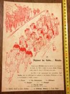 VIEILLE PUBLICITE MICHELIN BIBENDUM REGIMENT DES GUIDES  Georges Hautot - Verzamelingen