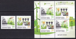 Bosnia Serbia 2016 Europa CEPT, Think GREEN, Environment, Bicycle, Set + Block From The Booklet MNH - Bosnie-Herzegovine