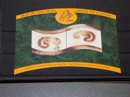 Canada - 2001 Year Of The Snake Block MNH__(TH-15402) - Blocchi & Foglietti