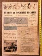 VIEILLE PUBLICITE MICHELIN BIBENDUM BUREAU DE TOURISME  SAUVAGOT - Oude Documenten