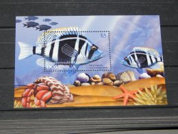 Dominica - 2004 Coral Fish Block MNH__(TH-6192) - Dominica (1978-...)