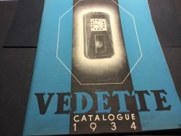 Catalogue 1934 - Horloges Carillon VEDETTE - Avec Tarifs Enveloppe Et Bon De Commande - Horloges
