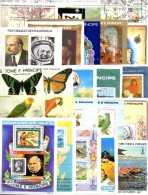 Blocks Thomas/Prinzen-Insel 25 Bl. O 400€ Topic Blocs Mushrooms Sport Flora Ship Children Olympic Art Sheets Bf Sao Tome - Stamps
