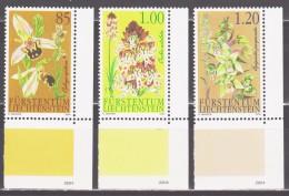 Liechtenstein 2004 Mi 1352-1354 Orchids / Orchideen **/MNH - Orchidées
