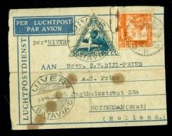 NEDERLANDS INDIE * LP * BRIEFOMSLAG Uit 1934 VIA DE UIVER Van BATAVIA Naar ROTTERDAM (10.444h) - Netherlands Indies