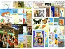 Motive Thomas/Prinzen-Insel 50 Blocks O 750€ Topics Blocs Flora Art Space Fauna Ship Children Olympia Sheets Bf Sao Tome - Sao Tome Et Principe