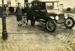 France Lille Famille Et La Belle Auto Ancienne Photo Snapshot Amateur 1920's - Cars