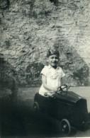 France Lille Jeux De L'Enfance Voiture A Pedale Ancienne Photo Snapshot Amateur 1945