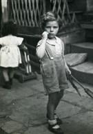 France Lille Jeux De L'Enfance Enfants Ancienne Photo Snapshot Amateur 1945 - Anonymous Persons