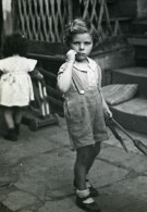 France Lille Jeux De L'Enfance Enfants Ancienne Photo Snapshot Amateur 1945