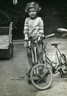 France Tours Jeux De L'Enfance Velo Et Cheval Ancienne Photo Snapshot Amateur 1946