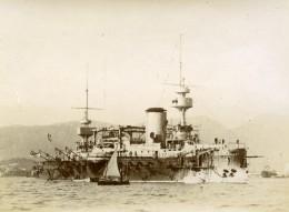 France Marine Militaire Bateau De Guerre Cuirassé Marceau Ancienne Photo Marius Bar 1900 - Schiffe