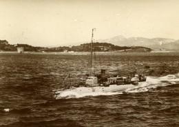 France Marine Militaire Bateau De Guerre Torpilleur 178 Ancienne Photo Marius Bar 1900 - Boats