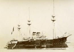 France Marine Militaire Bateau De Guerre Courbet Ancienne Photo Marius Bar 1900 - Boats