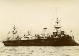 France Marine Militaire Bateau De Guerre Suchet Ancienne Photo Marius Bar 1900 - Boats