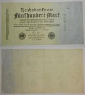 Alemania - Germany 500 Mark 1922 Pick 74.b Ref 54-3 - [ 3] 1918-1933 : República De Weimar