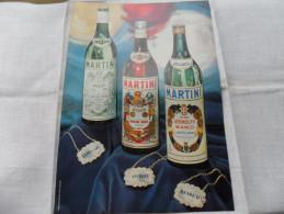 ANCIENNE PUBLICITE PAPIER  / MARTINI  / ANNEES 50 - 60 - Alcools
