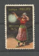 VIGNET  LAMPE PHILIPS / Economie 75% - Vignettes De Fantaisie
