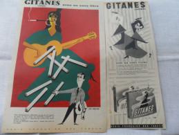 2 ANCIENNES PUB CIGARETTE GITANES  ANNEES 60 - Autres