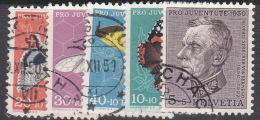 Switzerland Pro Juventute 1950 Used Set - Used Stamps