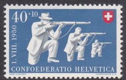 Switzerland 1950 Sports 40c Target Shooting Mint Never Hinged - Zwitserland