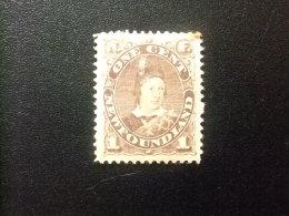 NEWFOUNDLAND TERRANOVA  TERRE NEUVE 1880  Prince De Galles Yvert Nº 35 * MH - Newfoundland