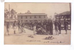 Carte Photo Guerre 14 18 Inspection Jacksonville FL  Soldats Americains 316 Th Supply Co - Guerre 1914-18