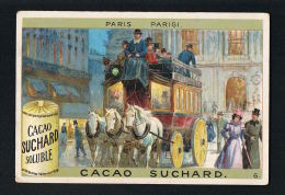 CHROMO CACAO SUCHARD - PARIS PARIGI  - Format 10,5 X 7,5 --Scans Recto Verso Paypal Sans Frais - Suchard