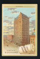 CHROMO CACAO SUCHARD - CHICAGO - Format 10,5 X 7,5 --Scans Recto Verso Paypal Sans Frais - Suchard