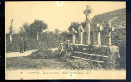 Cpa Du 22  Lannion -- Les Cinq Croix , Route De Ploubeyre    LIOB66 - Lannion