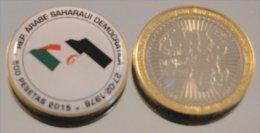 Sarahoui 2015 Bimetal Couleurs Drapeau - Western Sahara