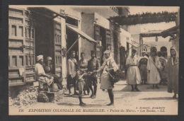 DF / 13 BOUCHES-DU-RHÔNE / MARSEILLE / EXPOSITION COLONIALE / PALAIS DU MAROC - LES SOUKS / TRÈS ANIMÉE - Mostre Coloniali 1906 – 1922