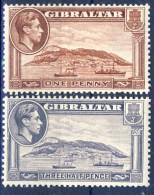 ##K2930. Gibraltar 1942-43. Michel 108 + 118. MNH(**) - Gibilterra