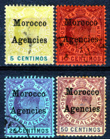 MOROCCO AG. 1903  KEVII    OVERPRINTS MH Or MH NO GUM. - Uffici In Marocco / Tangeri (…-1958)