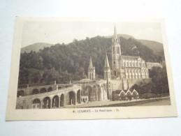65 LOURDES LA BASILIQUE NON CIRCULEE   DOS DIVISE BON ETAT LL 41 - Lourdes