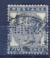 ##K2944. Great Britain 1881. Michel 62. Perfin: H.NS. Used - Gebruikt