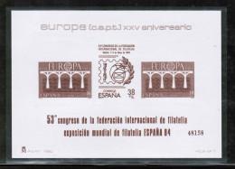 CEPT 1984 ES MI BL 2633-34 SPAIN ** - Europa-CEPT