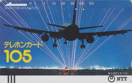 Télécarte Ancienne Japon / NTT 230-008 - AVION / 105 U - AIRPLANE Japan Front Bar Phonecard Balken Telefonkarte - Airplanes