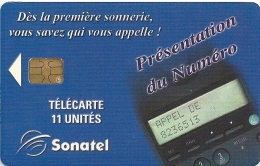 Senegal (Sonatel) - Présent. Numéro, 11 Units Sample (No Serial) Rare - Senegal