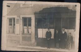 [03] Allier> Non Classés Lurcy Levis Carte Photo Restaurant CHAMIGNON Café De La Réunion Rue Jean Jaures - France
