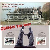 Bloc Souvenir N°110 Oblitéré 1er Jour - Le Gouvernement Belge à Sainte-Adresse - Sheetlets