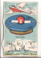 Ponpon Carte A Systeme Calendrier De La Classe - Barche