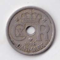 Denmark, 25 Øre, 1926 HCN ♥ GJ, 2 Scans.  Copper-Nickel   KM 823.1 - Denmark