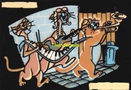 CPSM  EN RELIEF AVEC FEUTRINE LES ARISTOCHATS DISNEY  ( TTBE !!! )  DISNEY THE ARISTOCATS CARD WITH FELT - Disney