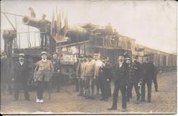 93 Gare De LIVRY  1914? Passage D´une Pièce D´Artillerie Lourde Anglaise Soldats Anglais Personnalités Femmes Chien - Guerra 1914-18