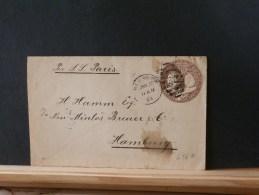 A6567  ENV.  1894  POUR HAMBURG   PER S.S. PARIS - ...-1900